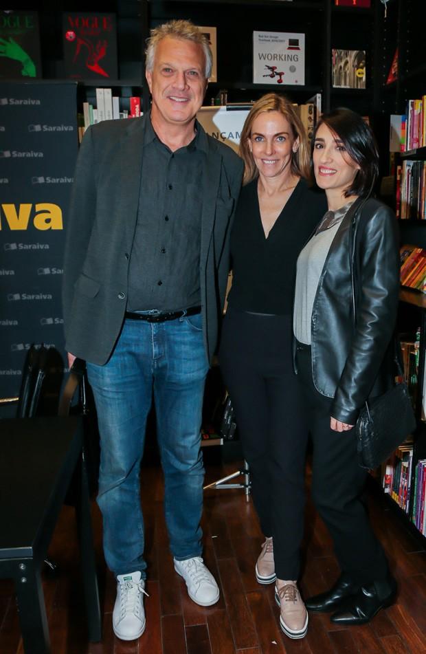 Pedro Bial, Patrícia Kogut e Maria Prata (Foto: Manuela Scarpa/Brazil News)