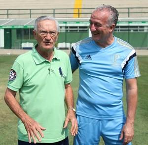 Dorival Júnior e Dudu Palmeiras (Foto: Cesar Greco/Ag Palmeiras/Divulgação)