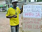No interior do AC, manifestante faz protesto solitário contra Lula