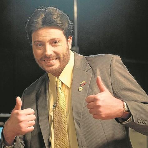 Danilo Gentili caracterizado para série do FX (Foto: Divulgação)