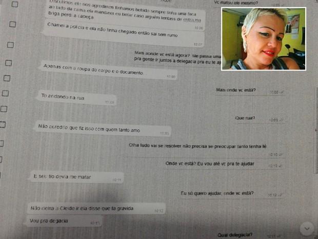 Suspeita confessou crime para familiares de vítima por meio do WhatsApp (Foto: G1)
