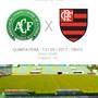 FICHA dos jogos Sulamericana Chapecoense x Flamengo