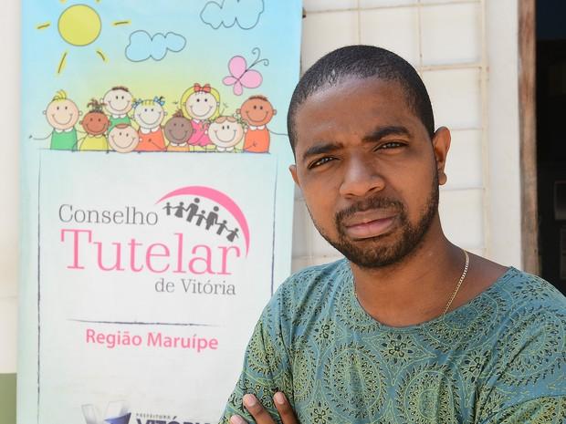 Jocelino Júnior, coordenador do Conselho Tutelar de Maruípe (Foto: Bernardo Coutinho/ A Gazeta)