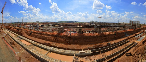 Obras de ampliação do Aeroporto Internacional de Viracopos (Foto: Divulgação / Aeroportos Brasil Viracopos)