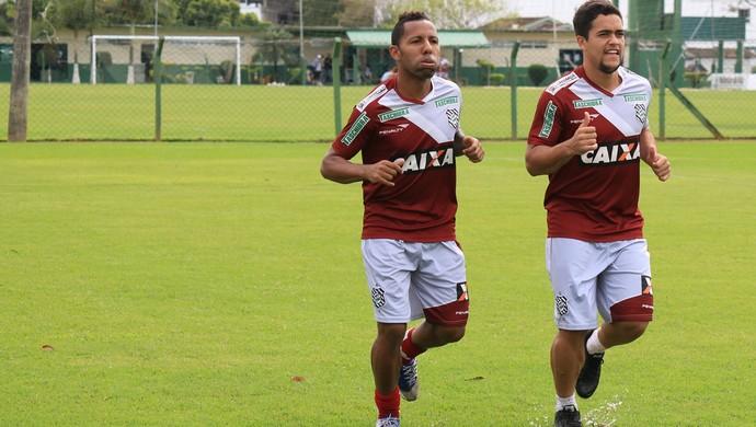 vitor júnior e Felipe figueirense (Foto: Luiz Henrique / FFC)
