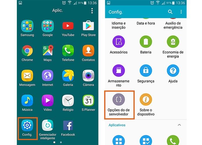 Acesse as opções do desenvolvedor no Android (Foto: Reprodução/Barbara Mannara)