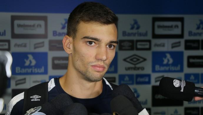 Léo goleiro Grêmio (Foto: Eduardo Moura/GloboEsporte.com)