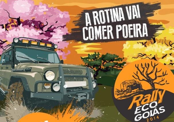 TV Anhanguera realiza 1ª etapa do Rally Eco Goiás 2014 (Foto: Divulgação/TV Anhanguera)