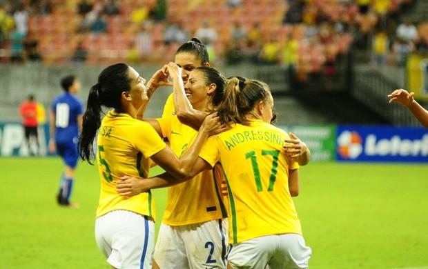 Brasil e Itália Arena da Amazônia futebol feminino