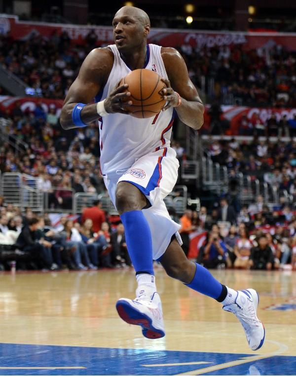 Lamar Odom em seus tempos de Los Angeles Clippers (Foto: Getty Images)