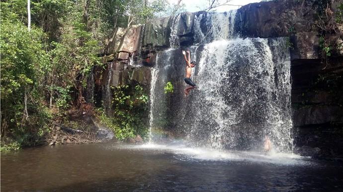 Cachoeira do Xixá  é um dos destaques de Batalha (Foto: Gshow/Rede Clube)