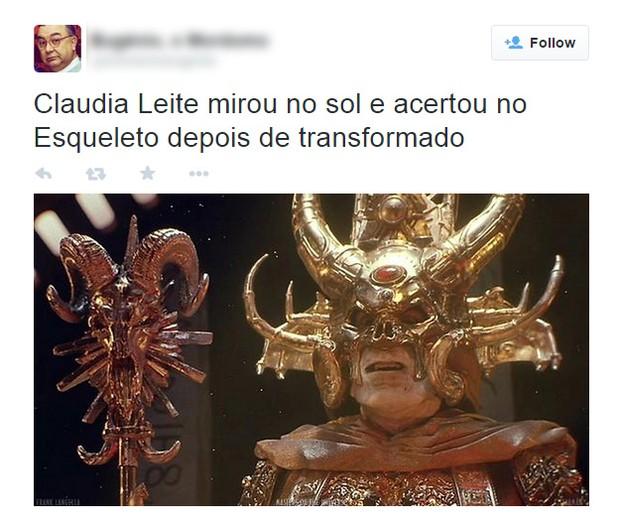 Fantasia de Claudia Leitte vira piada nas redes sociais (Foto: Twitter / Reprodução)