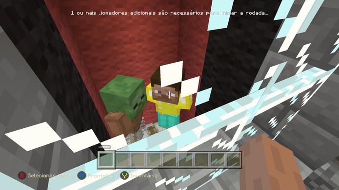 Lute contra jogadores em Minecraft (Foto: Reprodução/Murilo Molina)