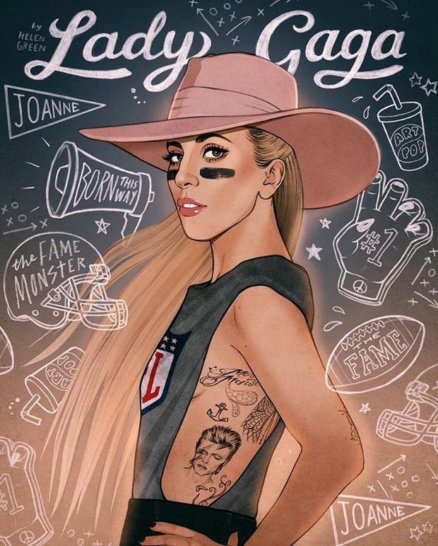 Lady Gaga sensualiza horas antes do Super Bowl (Foto: Reprodução/Instagram)