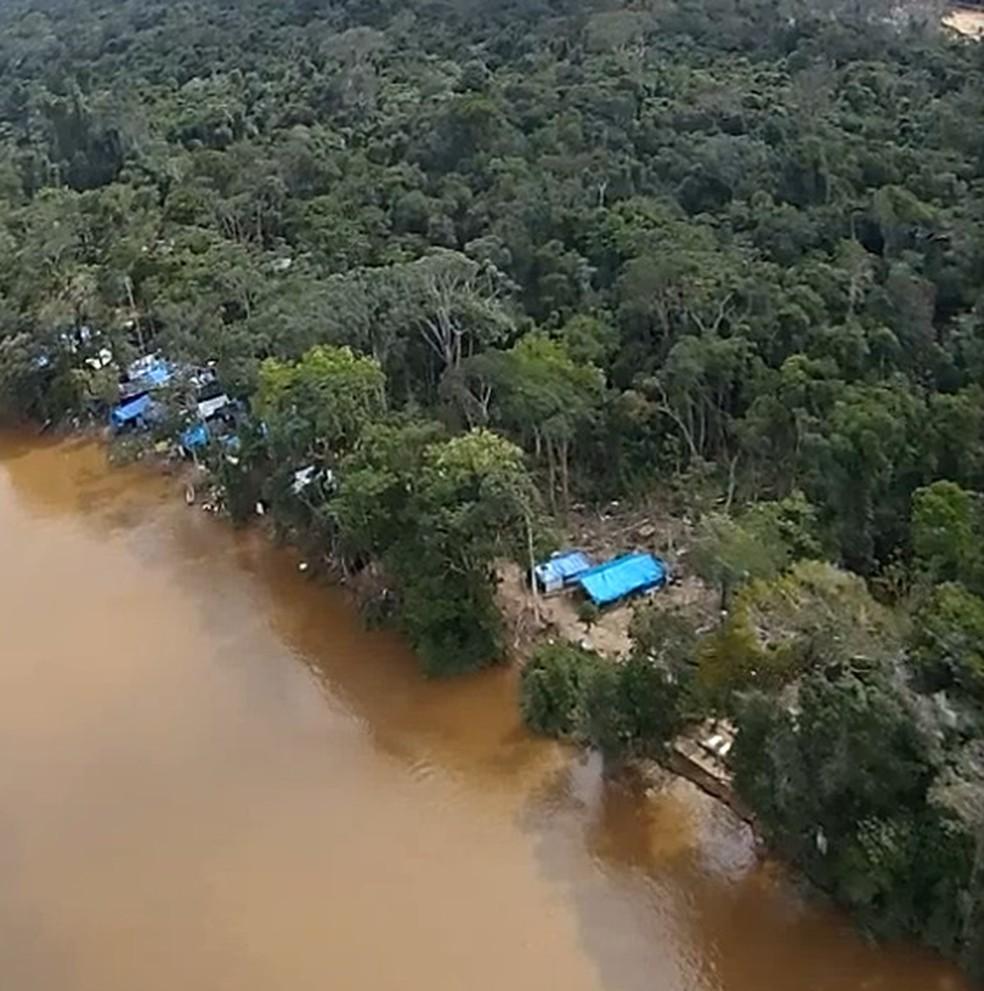 'Cidade' em meio a selva amazônica foi descoberta durante operação do Exército Brasileiro (Foto: Divulgação/Exército Brasileiro)