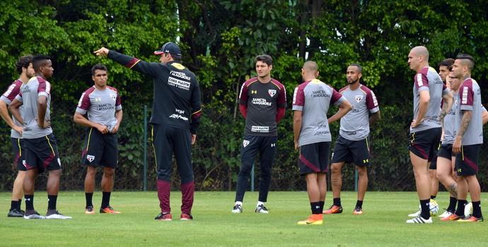 Ricardo Gomes reúne time titular do São Paulo (Foto:  Érico Leonan / saopaulofc.net )