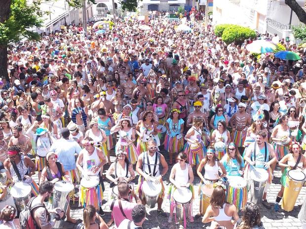 Bloco Juventudade Bronzeada arrasta milhares de pessoas por ruas da Floresta, em Belo Horizonte (Foto: Pedro Ângelo/G1)