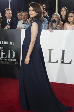 Marion Cotillard em première de filme em Los Angeles, nos Estados Unidos (Foto: Valerie Macon/ AFP)
