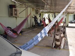 Incra é ocupado por membros do MST em João Pessoa  (Foto: Walter Paparazzo/G1)