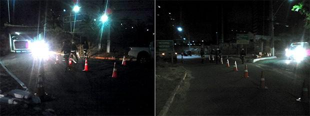Blitz foi realizada no conjunto Pirangi, em Neópolis, nas proximidades do viaduto que passa sob a BR-101 (Foto: Divulgação/Polícia Militar)