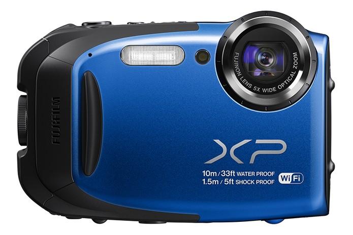 'Action cam' da Fujifilm foi lançada na CES 2014  (Foto: Divulgação/Fujifilm)