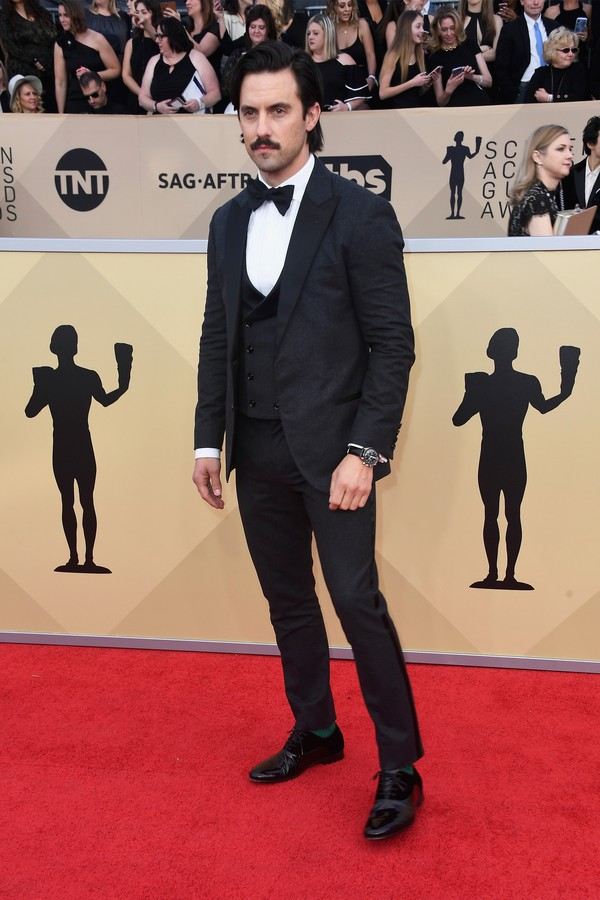 LOS ANGELES, CA - JANUARY 21:  Actor Milo Ventimiglia attends the 24th Annual Screen Actors Guild Awards at The Shrine Auditorium on January 21, 2018 in Los Angeles, California.  (Photo by Frazer Harrison/Getty Images) (Foto: Getty Images)