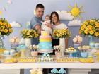 Rubia Baricelli faz festa para comemorar três meses da filha