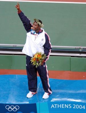 atletismo Justin Gatlin Atenas 2004 (Foto: AFP)