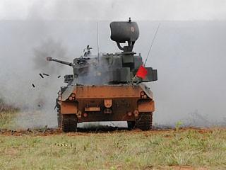 Gepard, novo blindado com artilharia antiaérea do Exército (Foto: Exército/Divulgação)