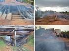 Trecho na BR-156 é interditado após incêndio destruir ponte, no Amapá