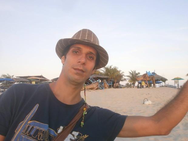 Alejandro acampava na Praia de Jericoacoara (Foto: Reprodução/Facebook)