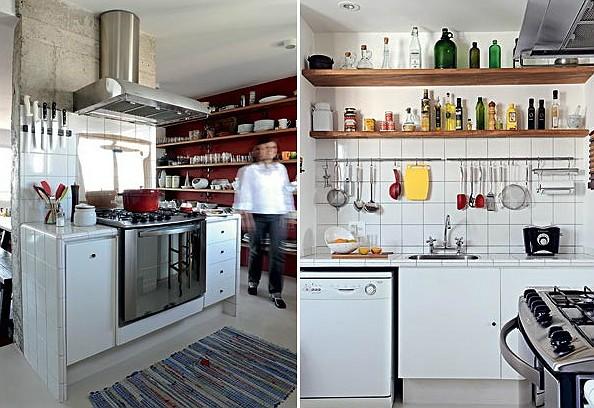 A cozinha vira sala  Casa e Jardim  Cozinha integrada com a sala # Bancada Para Cozinha De Alvenaria