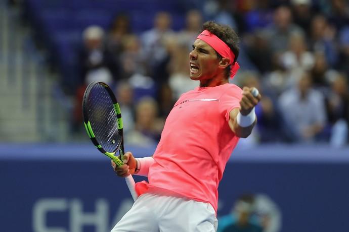 Rafael Nadal avança para as oitavas de final do US Open (Foto: Richard HEATHCOTE / GETTY IMAGES NORTH AMERICA / AFP)