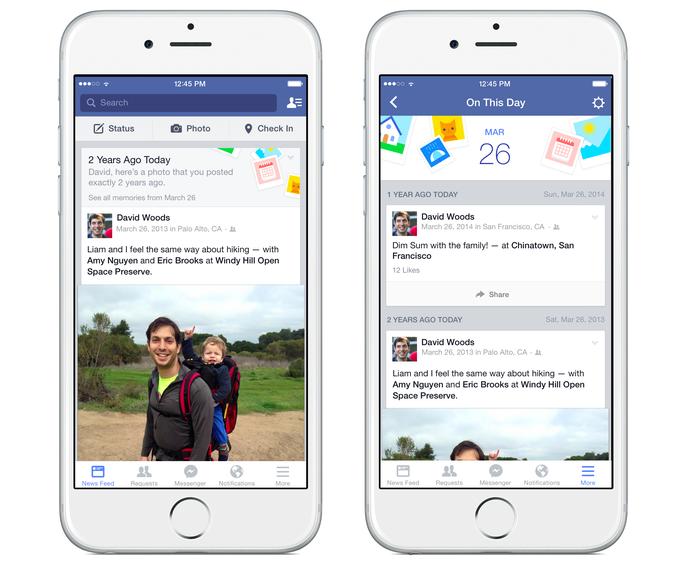 No celular, rede social vai mostrar um alerta sobre este dia com fotos antigas (Foto: Reprodução/Facebook)
