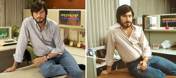 Ashton Kutcher e Steve Jobs (Foto: Divulgação)