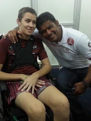 Minotauro encontrou com Gabriel Diniz em evento no Espírito Santo (Foto: Richard Pinheiro/Globoesporte.com)