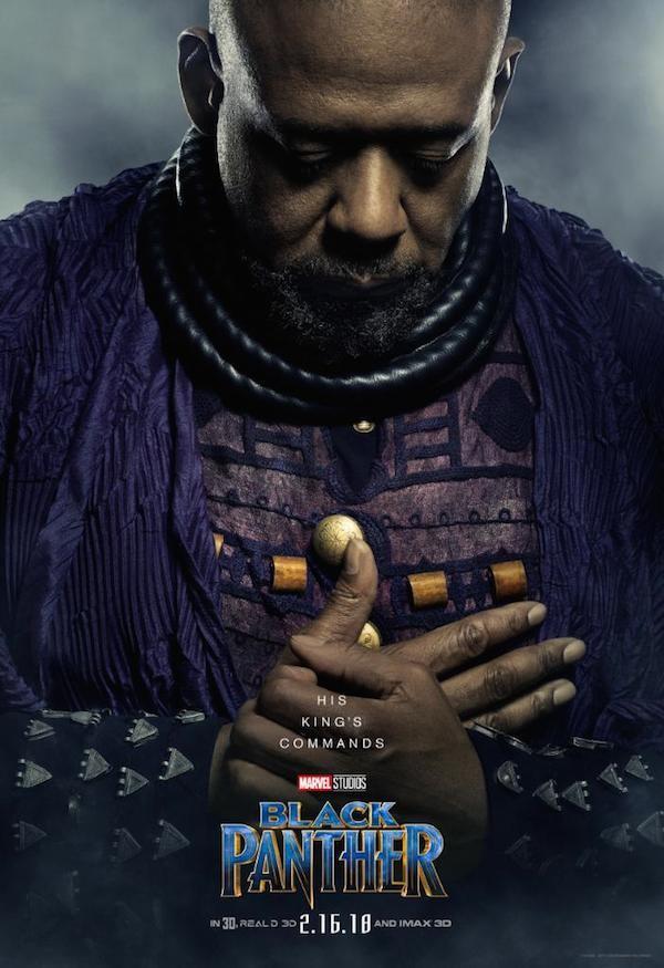 Um dos novos pôsteres do filme Pantera Negra da Marvel (Foto: Divulgação)
