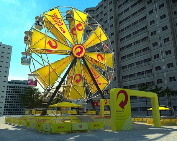 Roda gigante no Carnaval (Foto: Divulgação)