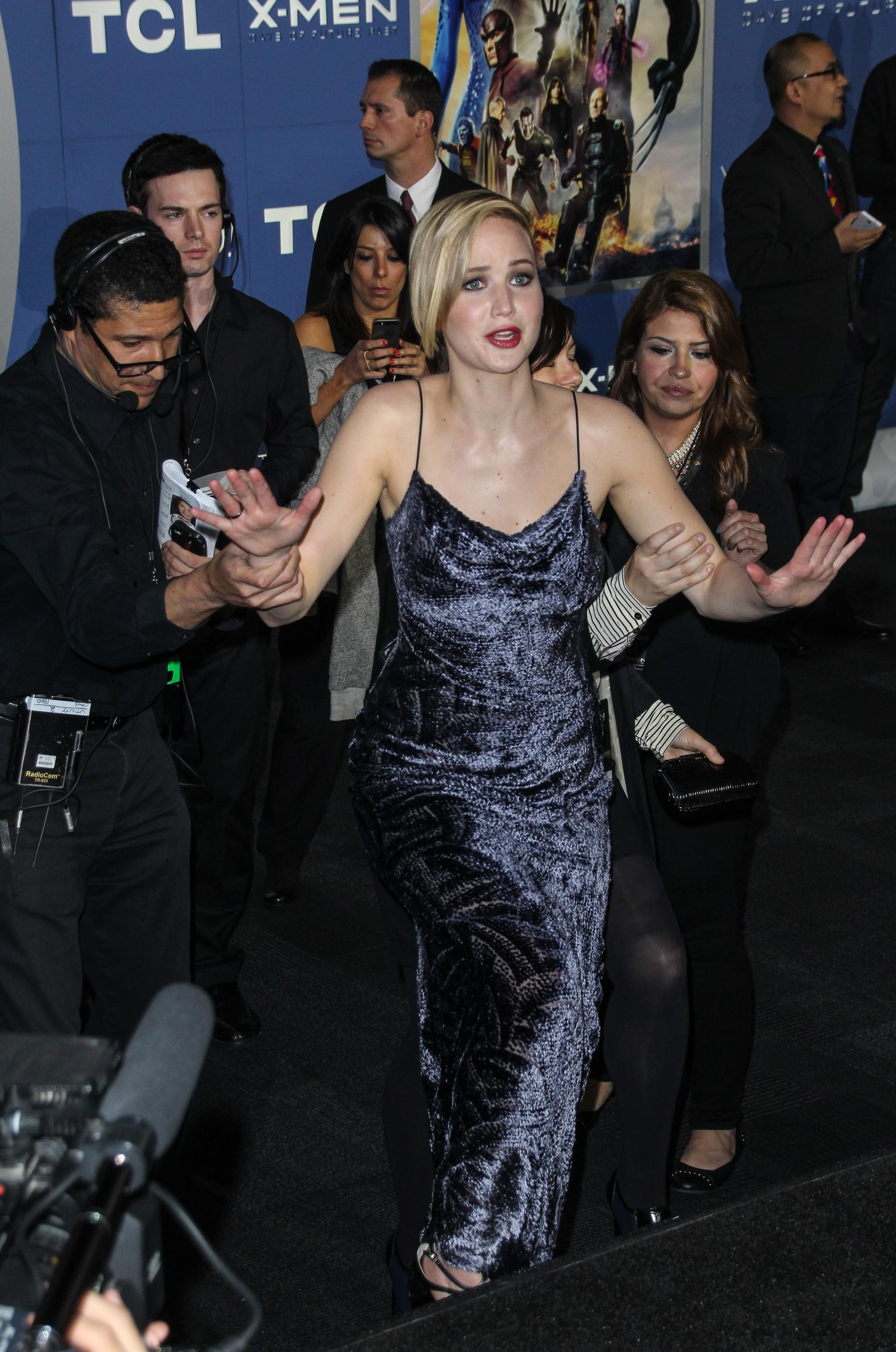 Jennifer Lawrence em premiére de 'X-Men: Dias de um Futuro Esquecido' em Nova York (Foto: Splash News/AKM-GSI / AKM-GSI)