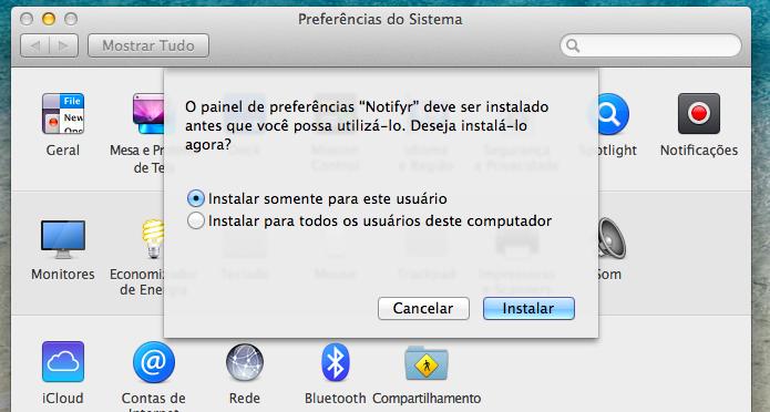 Selecione como deseja instalar o aplicativo (Foto: Reprodução/Helito Bijora)