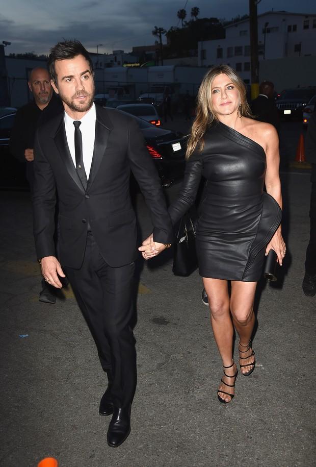 Justin Theroux e Jennifer Aniston em première de série em Los Angeles, nos Estados Unidos (Foto: Kevin Winter/ Getty Images/ AFP)