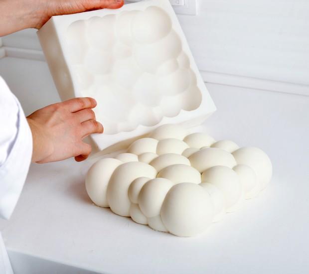 Moldes em 3D, usados no trabalho da confeiteira ucraniana Dinara Kasko (Foto: Divulgação)