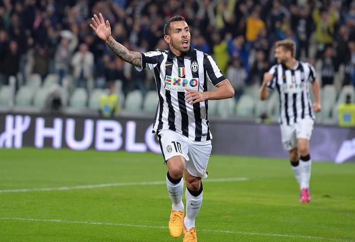 Tevez  - Juventus x Fiorentina (Foto: AP)