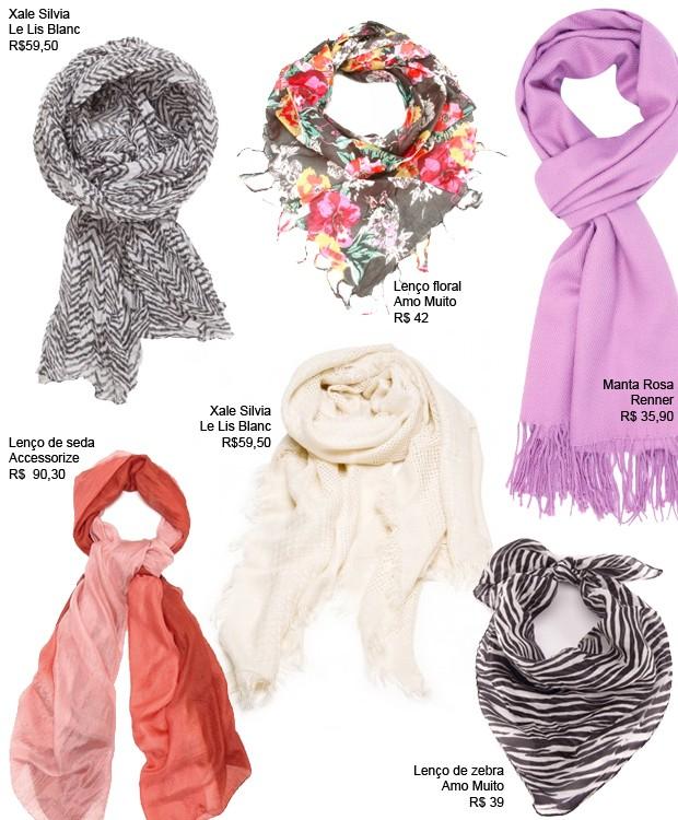 Guia de compras: lenços (Foto: Divulgação)