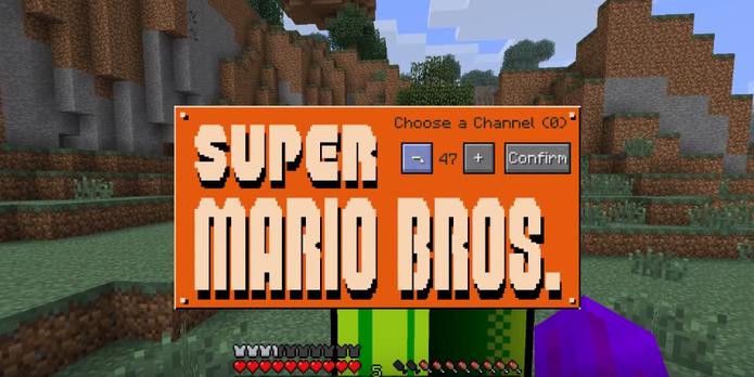 Mod de Super Mario Bros.para Minecraft (Foto: Reprodução / YouTube)