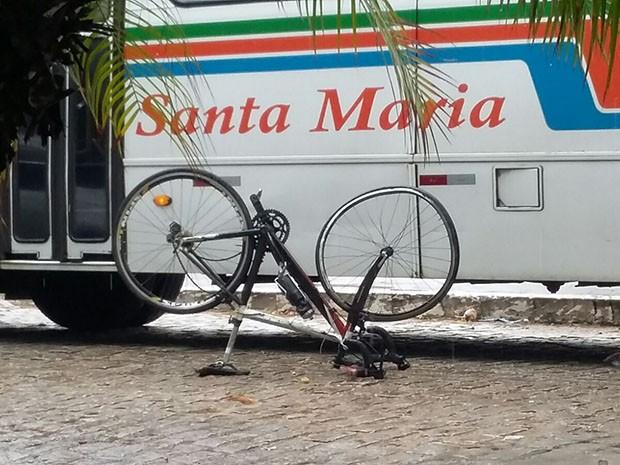 Acidente aconteceu nesta terça (1 na Praia do Meio (Foto: Sérgio Henrique Santos/Inter TV Cabugi)
