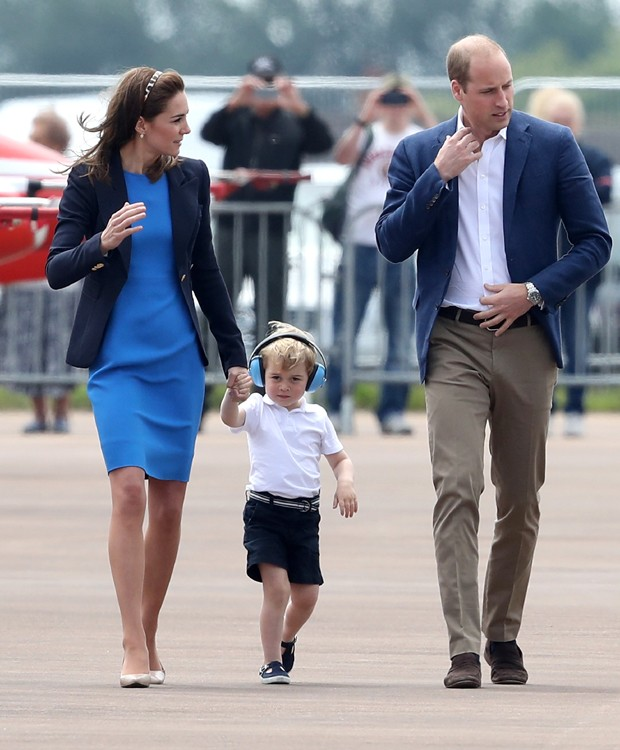 Kate Middleton, George e príncipe William (Foto: Getty Images)