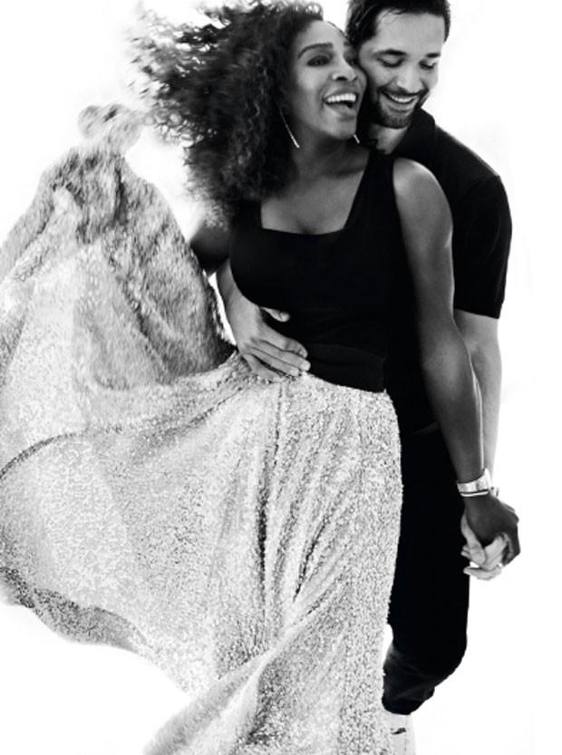 Serena Williams e marido (Foto: Reprodução/Vogue/Mario Testino )