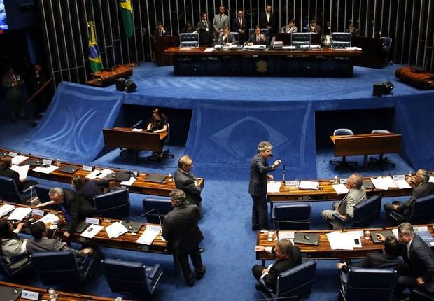 Plenário do Senado analisa texto do projeto de abuso de autoridade (Foto: Antonio Cruz/Agência Brasil)