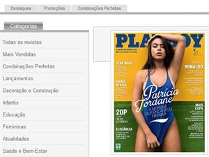 Edição da Playboy trouxe a chamada 'a morena que encantou Neymar' (Foto: Reprodução)